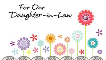For Daughter-in-Law Card Messages
