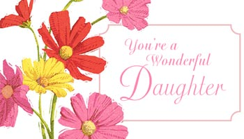 For Daughter Card Messages